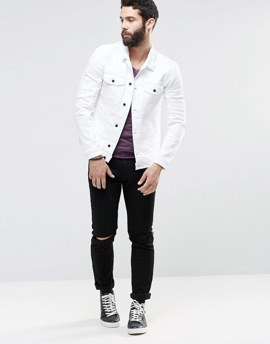 Image 4 of Religion White Denim Jacket | Fall Fashion: A Dudes ...