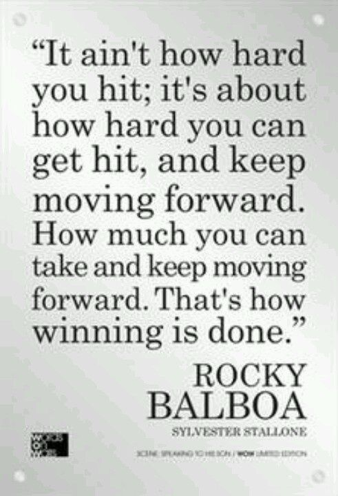 Moving Forward Quotes Inspirational Quotes  Damn Straight   Pinterest  Rocky Balboa .