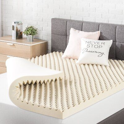 White Noise Dean 3 Copper Infused Bed Mattress Topper Bed Size Twin In 2020 Mattress Cooling Mattress Pad Best Mattress