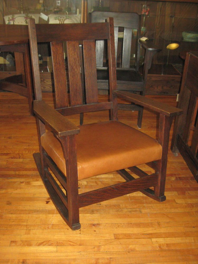 Arts Amp Crafts Era Gustav Stickley Rocking Chair Rocker