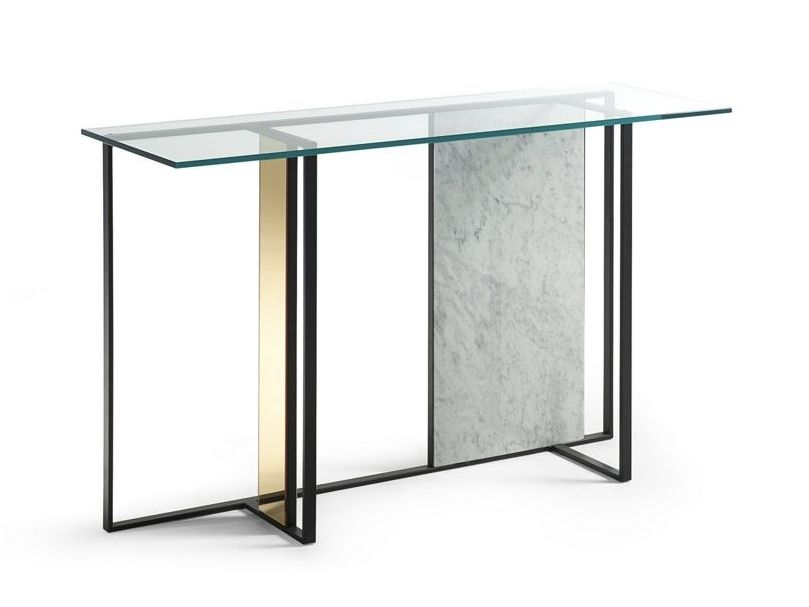 Trame Console Table By Roche Bobois Design Alexandre Dubreuil Glass Console Table Sideboard Console Luxury Console