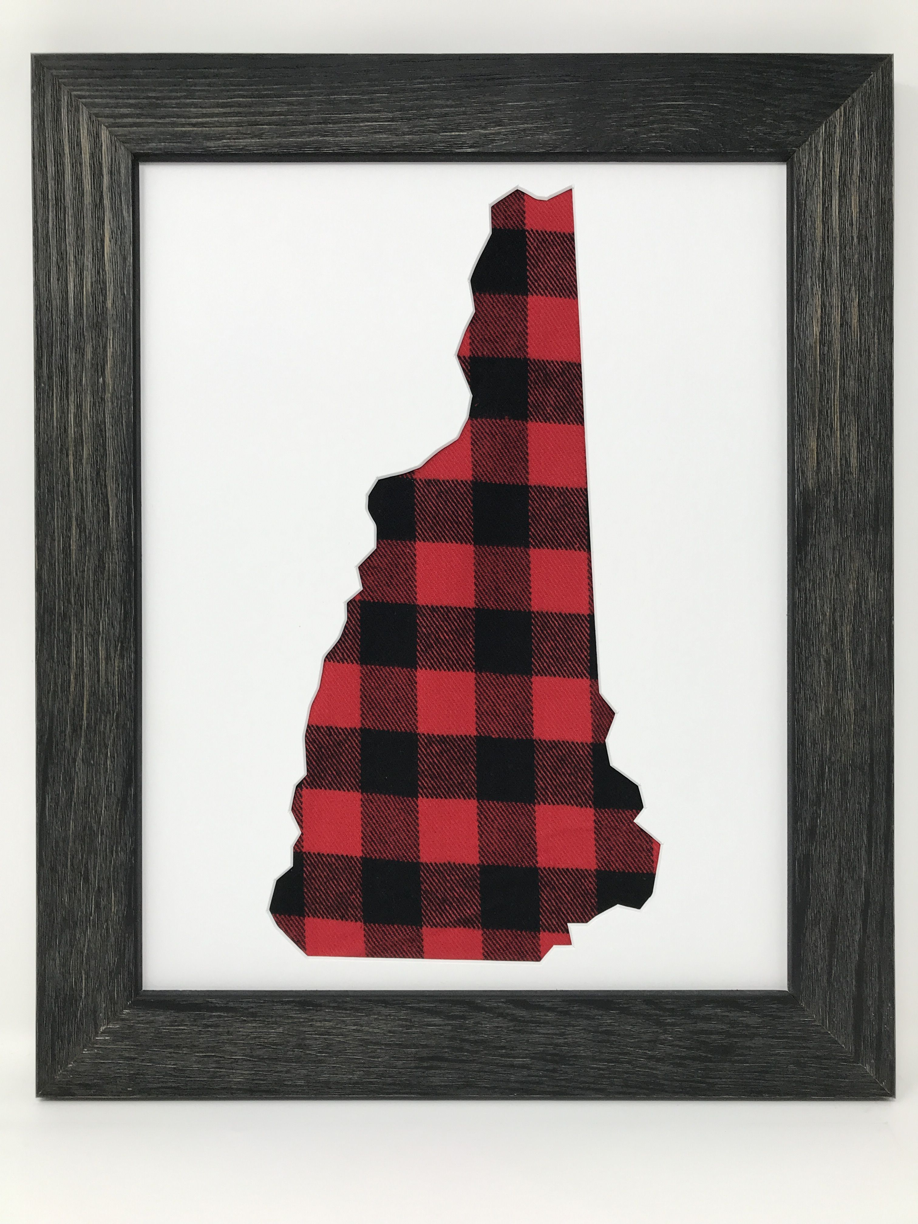 Rustic Black Solid Wood Picture Frame with New Hampshire in buffalo ...