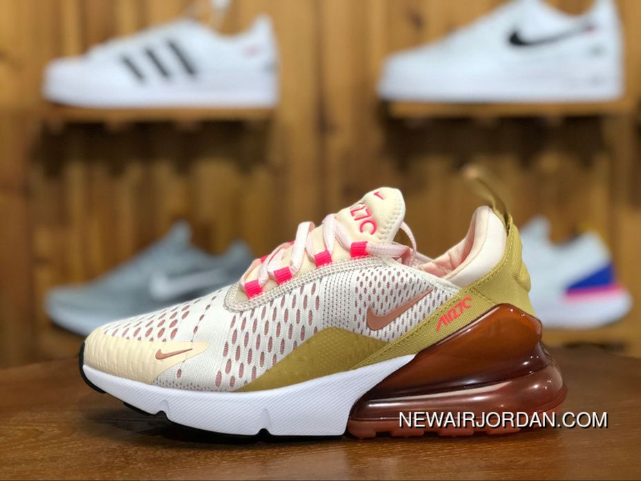 Nike Air Max 270 AH6789 801 Womens Running Shoes GUAVA ICE