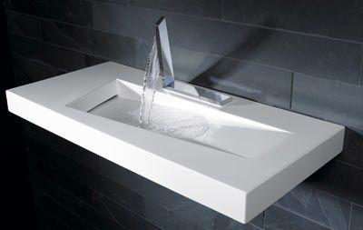 Verschmelzung Von Armatur Und Waschtisch Badezimmer Waschbecken
