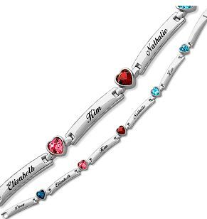 Mother S Bracelet With Children Names And Heart Shaped