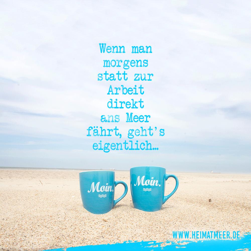 Morgens Kaffee am Meer und es geht! | MOIN TASSEN >>