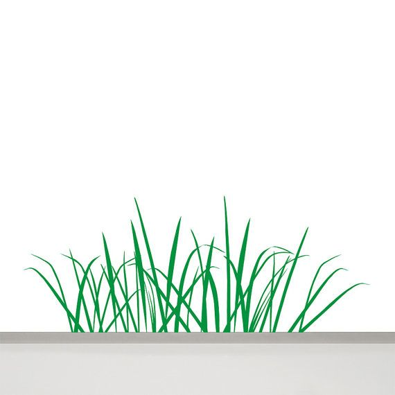 Grass Wall Decal 163u0027u0027 x 472u0027u0027 on Etsy $37.18  sc 1 st  Pinterest & Grass Wall Decal 47 in / 120 cm long Grass Wall Art Tall Grass Decal ...