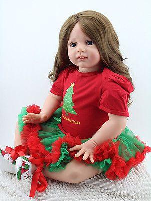 Reborn Toddler Baby Dolls 24 Soft Vinyl Silicone Long Hair Doll Kids Xmas Gift Reborn Toddler Girl Reborn Toddler Baby Dolls For Toddlers
