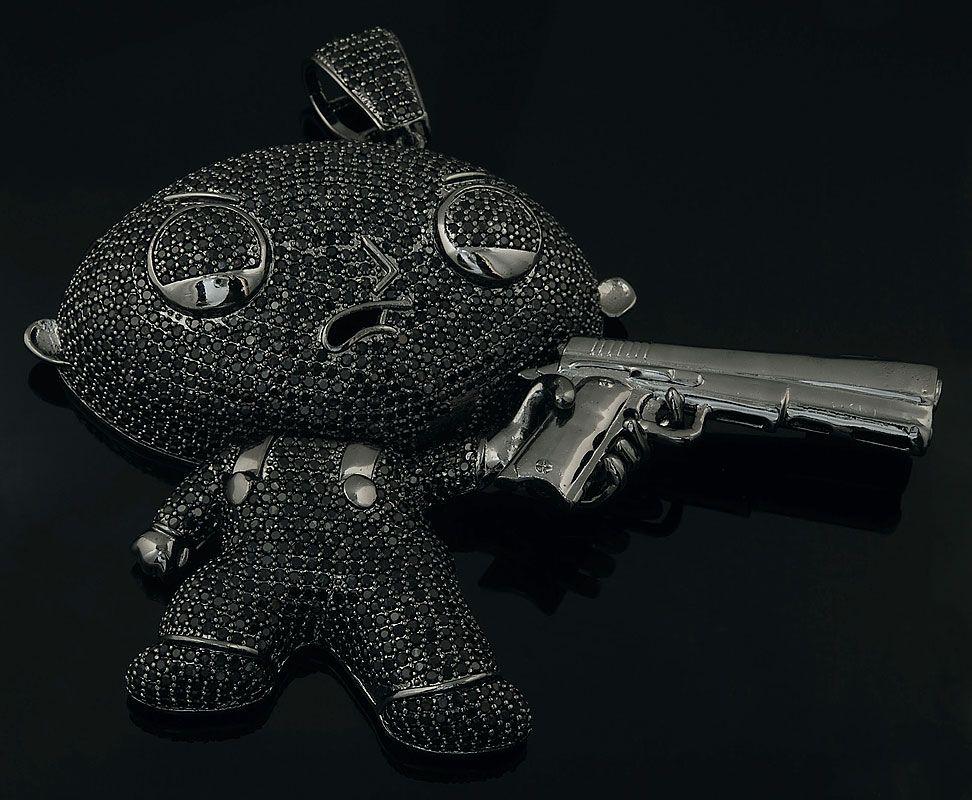 Stewie griffin gun pendant pakabukai kaklo pinterest stewie griffin gun pendant aloadofball Images