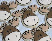 Forest Friends Sugar Cookies: Moose