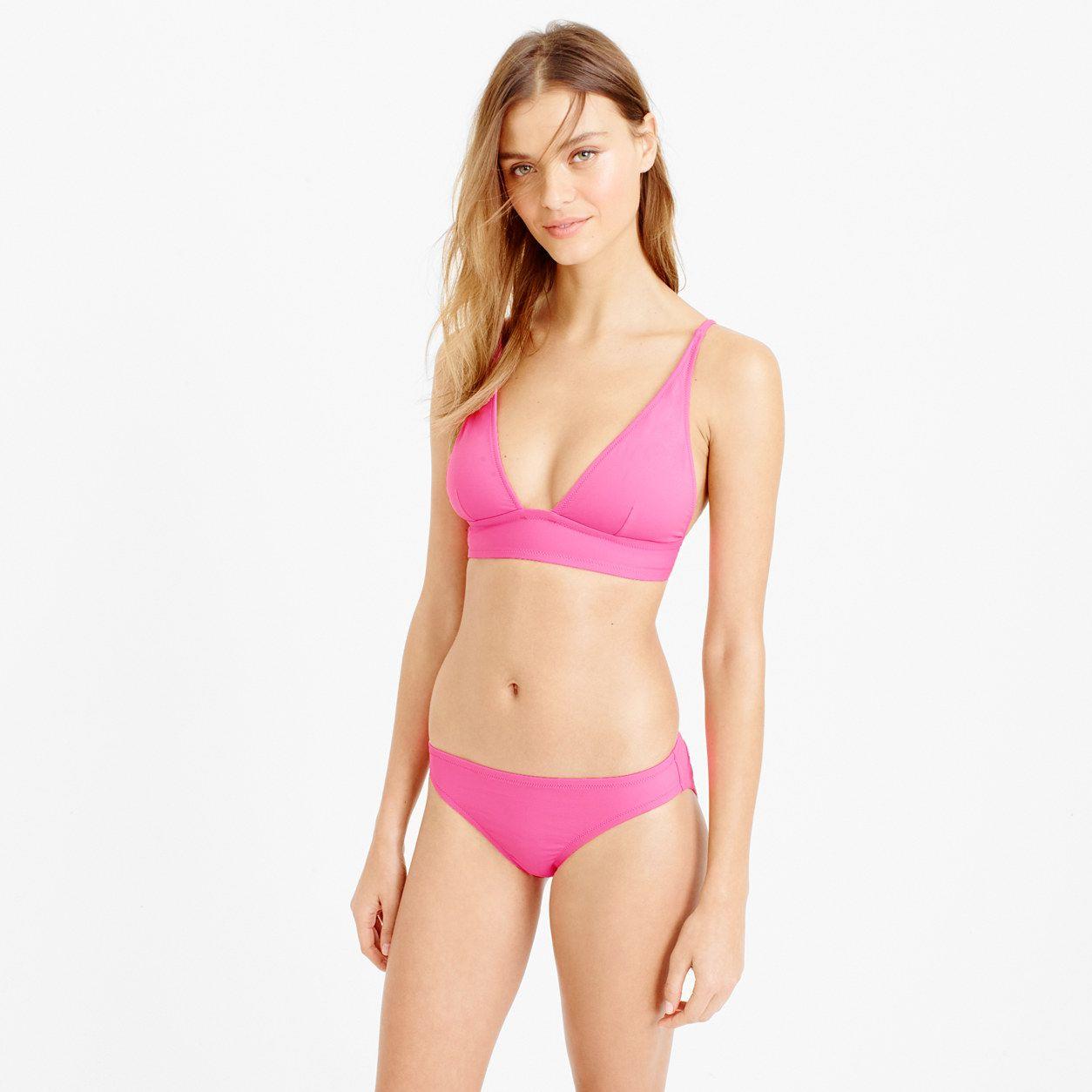 991f032058283 J.Crew Womens Plunge V-Neck Bikini Top In Italian Matte (Size S ...