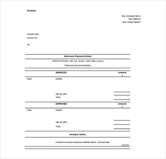 Contractor Invoice templates Free Word , Templates for Invoices