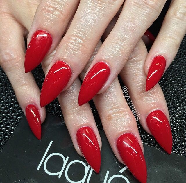 Red Stiletto Nails 1 Double Team Dynamicpunch Amazing Powerful
