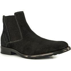 bugatti Chelsea Boots Herren, Velours, schwarz Bugatti