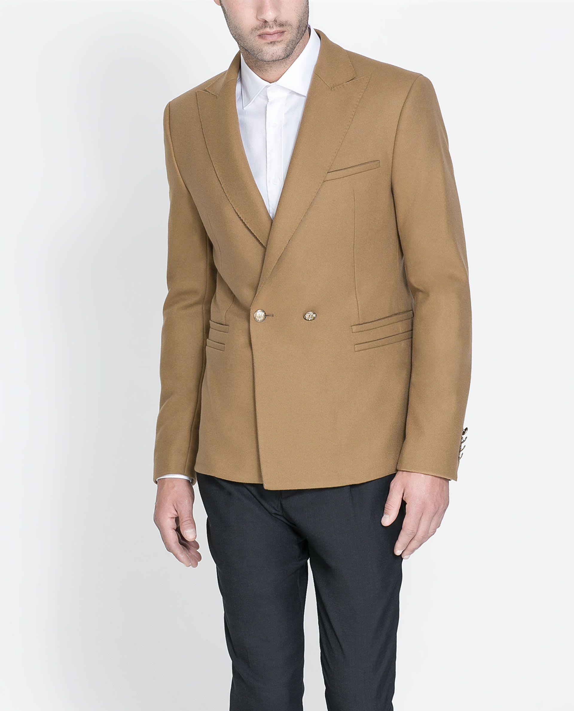 b85d4d619 BLAZER WITH GOLDEN BUTTON Zara Blazer, Blazer Suit, Suit Jacket, Zara Man,