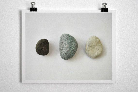 Three Rocks Body Mind Spirit Zen Decor Photographic by NatureCity, $25.00