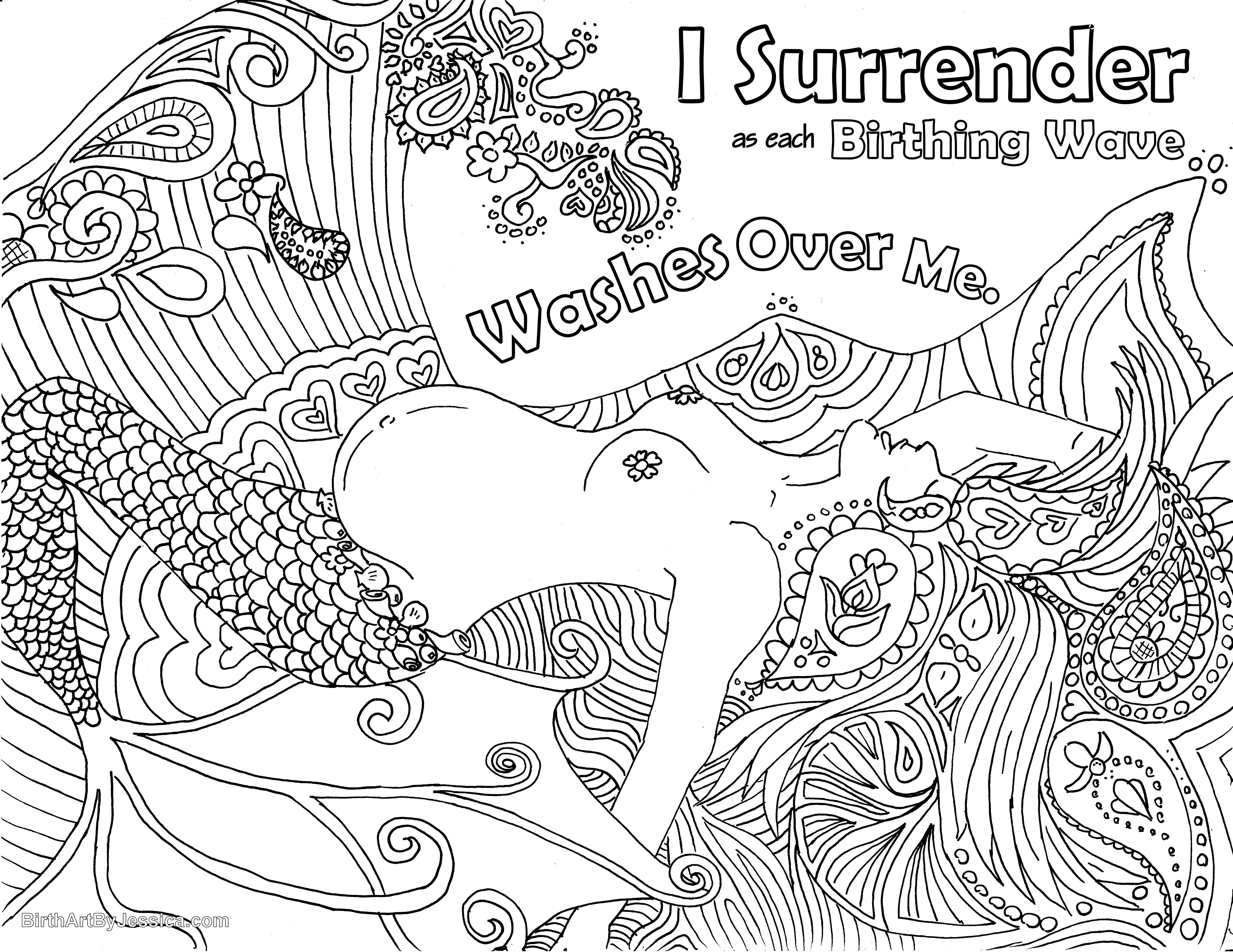 Birth Affirmation Coloring Page Free Printable Mermaid Water Gallery Birth Affirmations Birth Art Mermaid Coloring Pages