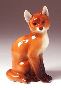 Lomonosov Russian Porcelain Fox Figurine 12 19 2017