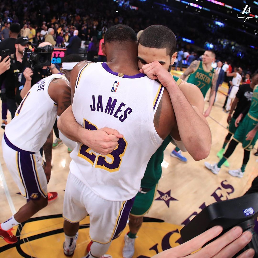 Los Angeles Lakers On Instagram Rivalry Respect In 2020 Los Angeles Lakers Lebron James Lakers Lakers Celtics