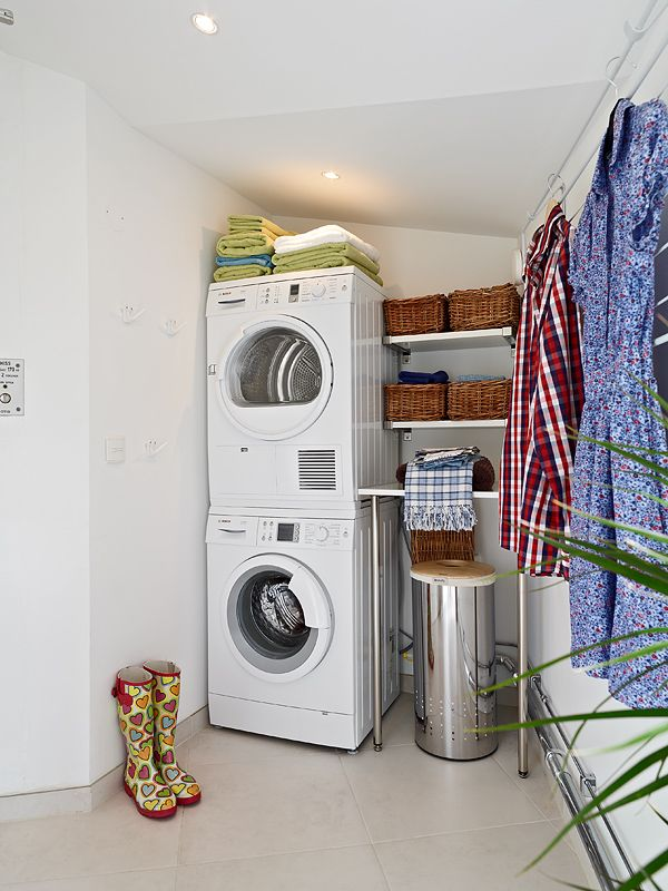Very Modern Swedish Loft Design With A Protected Terrace Digsdigs Laundry Room Storage Small Laundry Room Organization Laundry Room Storage Shelves