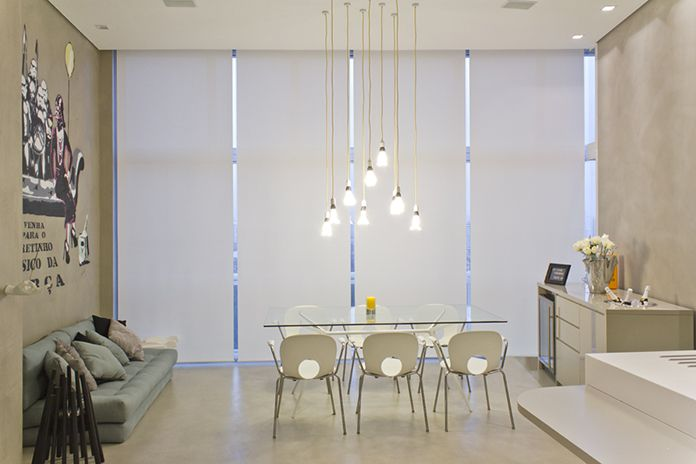 Plumen chandelier in brazilian star wars themed apartment