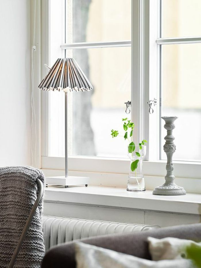 1001 tolle ideen f r fensterdeko mit fensterbank lampen - Fensterdeko wohnzimmer ...