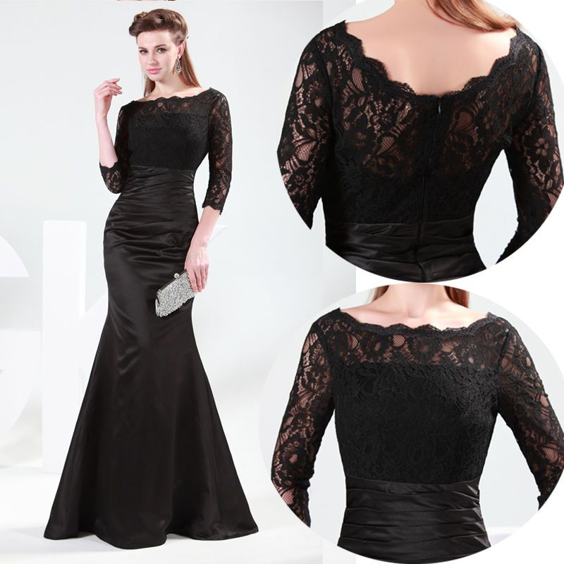 Vintage Formal Lady Long Maxi Evening Party Cocktail Dress Wedding