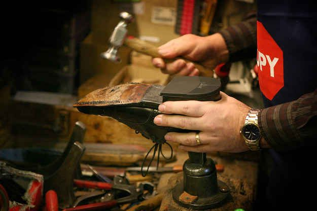 Slippery soles? Go to a shoe cobbler and get rubber attached to the bottom.