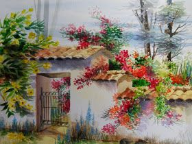 Lindas Imagenes Paisajes Acuarelas Paisajes Acuarela Pinturas