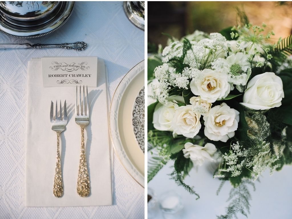 Delightfully Elegant Downton Abbey Wedding Inspiration
