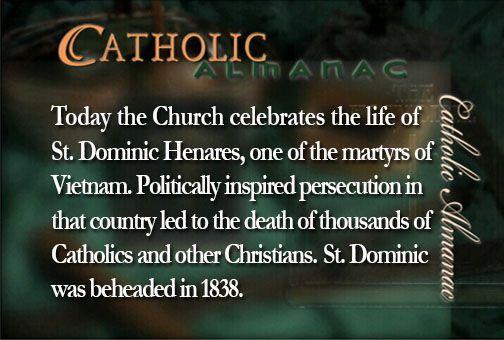 #SaintDominicHenares #martyr #Vietnam #prayforus