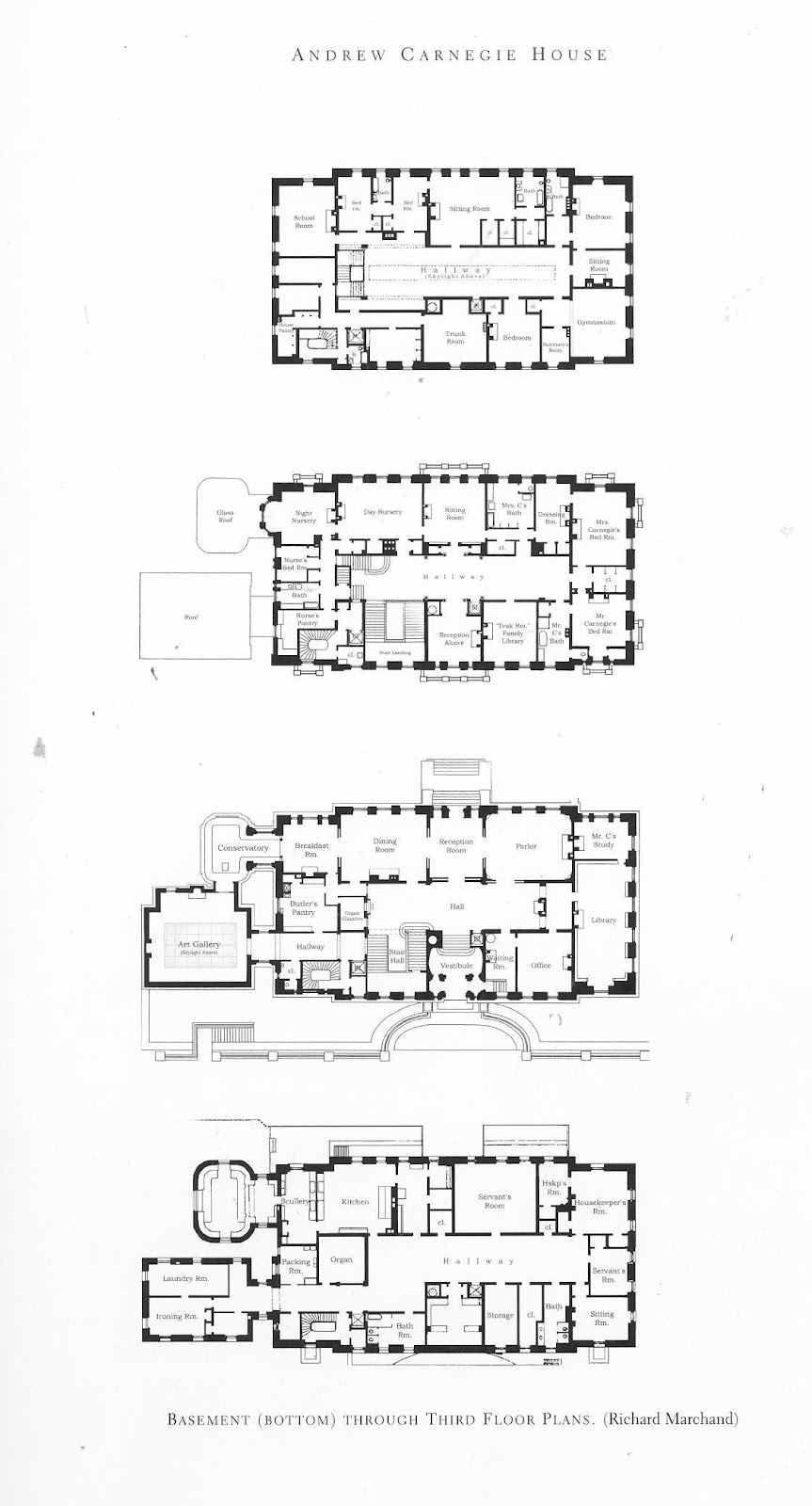 Carnegie Mansion Floor Plans   HOUSE PLANS   Pinterest   Mansion ...