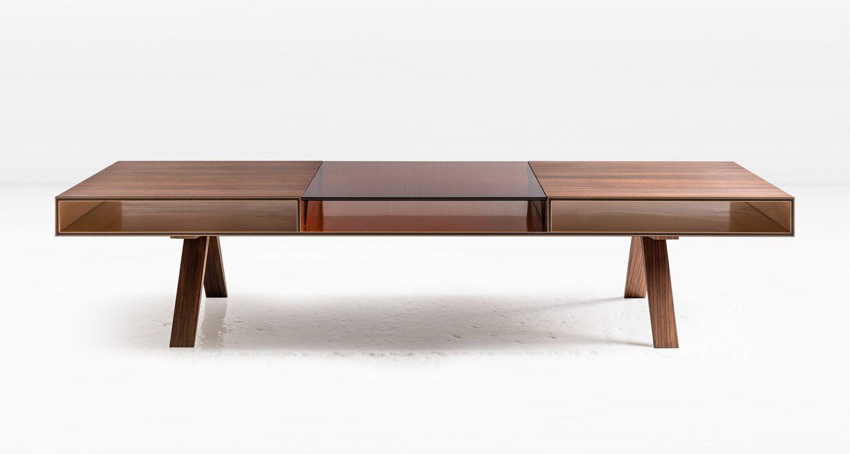 South American Rosewood Veneer With Medium Bronze Glass Coffee Table Furnishings Home Decor [ 800 x 1500 Pixel ]