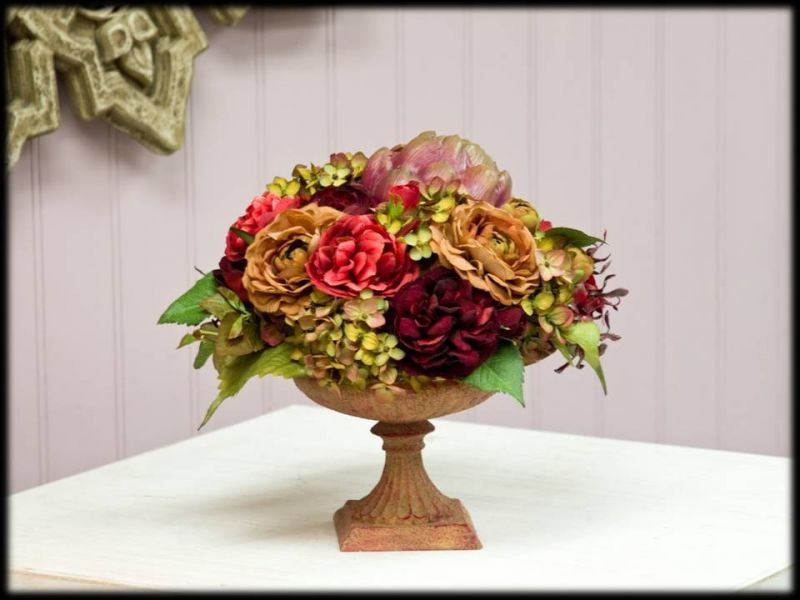 Hydrangea centerpiece floral inspiritation pinterest hydrangea update your homes decor with a stunning silk floral arrangement made with realistic silk flowers succulents more mightylinksfo
