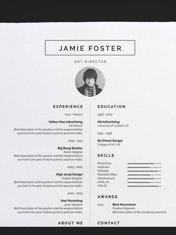 Nice resume templates is one of the best idea for you to make a good ...
