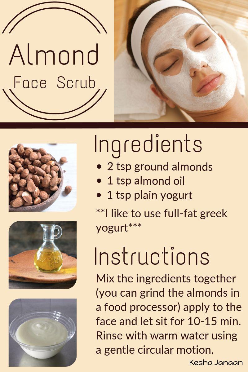 Almond Face Scrub Kesha Janaan Almond Oil Benefits Almond Oil Uses Antioxidants