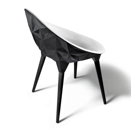 Diesel Living with Moroso – Rock Stuhl – Schwarz & Weiß | Furniture ...