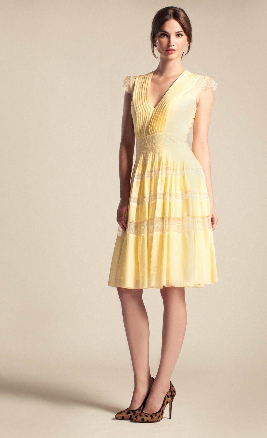 Acorn Lace Pleated Dress   Designer Dresses   Temperley London ...