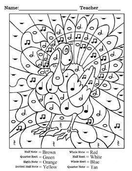 thanksgiving rhythm worksheet