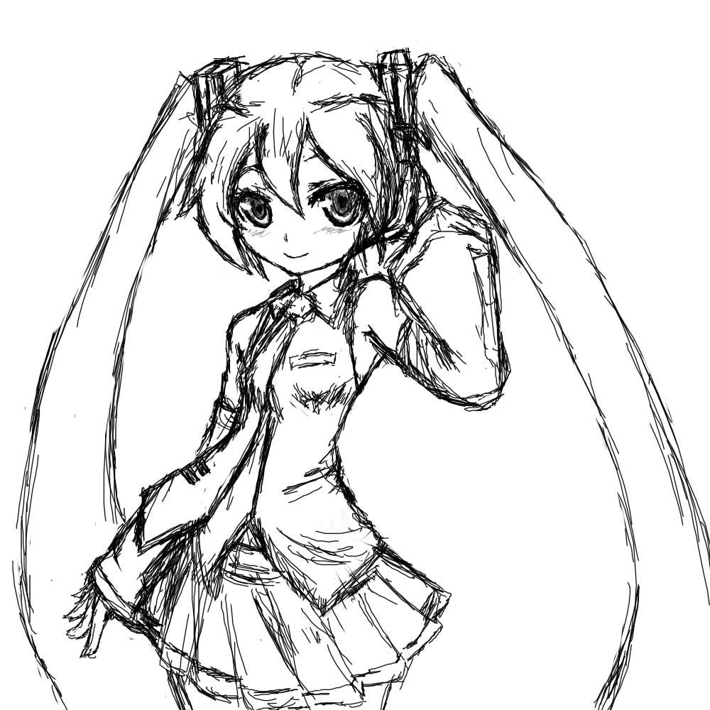Miku Hatsune Coloring Pages Chibi Coloring Pages Coloring Pages Hatsune Miku