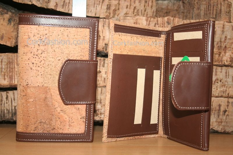 Ladies Wallet (model CC-1009) - Eco-friendly - made of real cork. From www.corkfashion.com