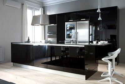 Cocinas en color negro - Cocinas negras modernas ...