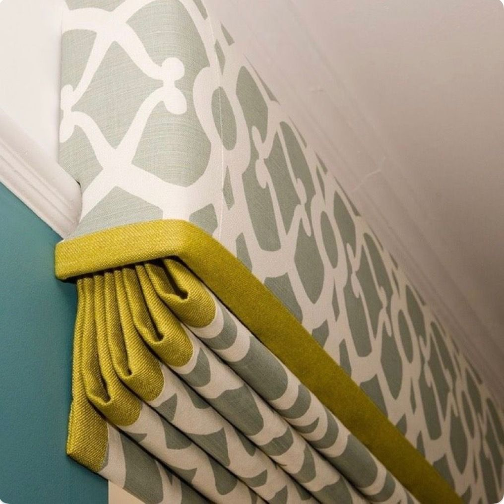 Curtain Pelmets Ideas: Roman Shade With Built In Valance.