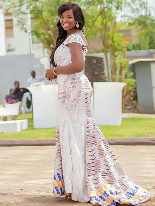 Ghanaian Wedding Dress African Fashion Ankara Kitenge Women Dresses