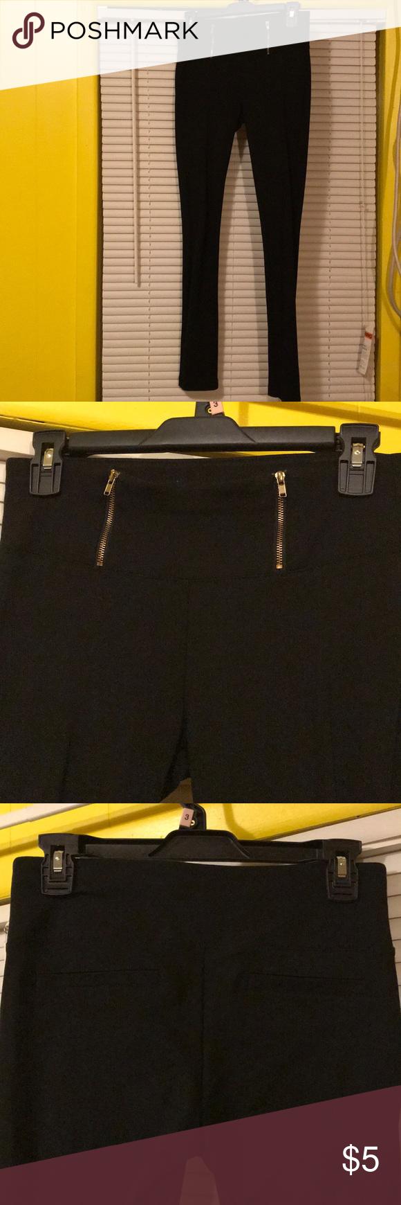 Black leggings/pants Black pants made of a stretchy material like leggings but a little thicker Labijou Pants Leggings