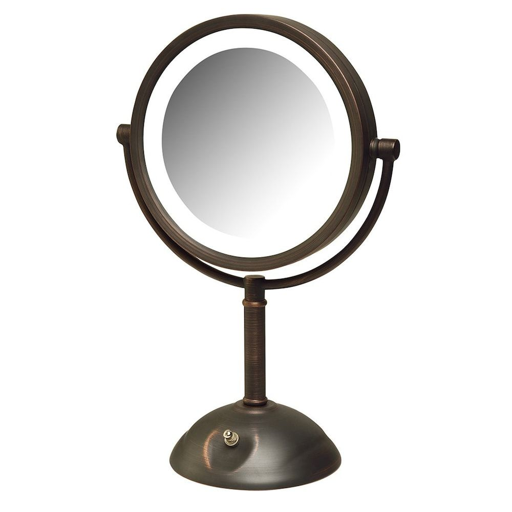 Jerdon Led Tabletop Mirror Drk Orange Lighted Vanity Mirror