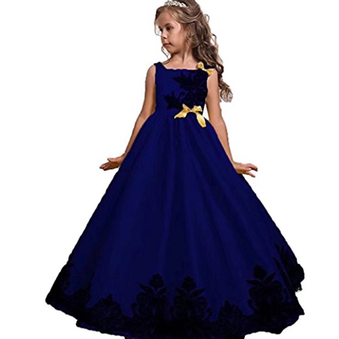 Kids Showtime Flower Girls Embroidered Robe Princess Dress