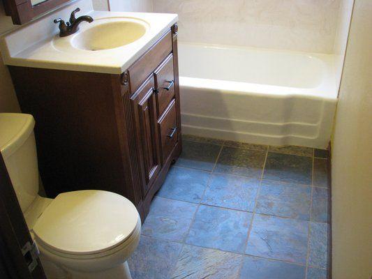 Awesome Slate Tile Flooring Bathroom Rftvqpjr ..