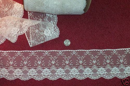 4 Victorian Look Cream Lace  Cents A Yard