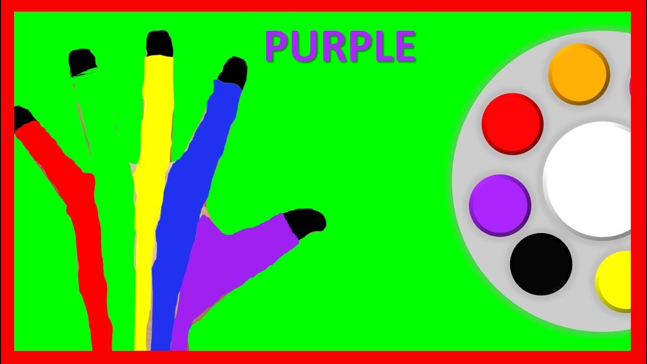 Learn Colors for Children Body Paint Finger Family Song Nursery ...